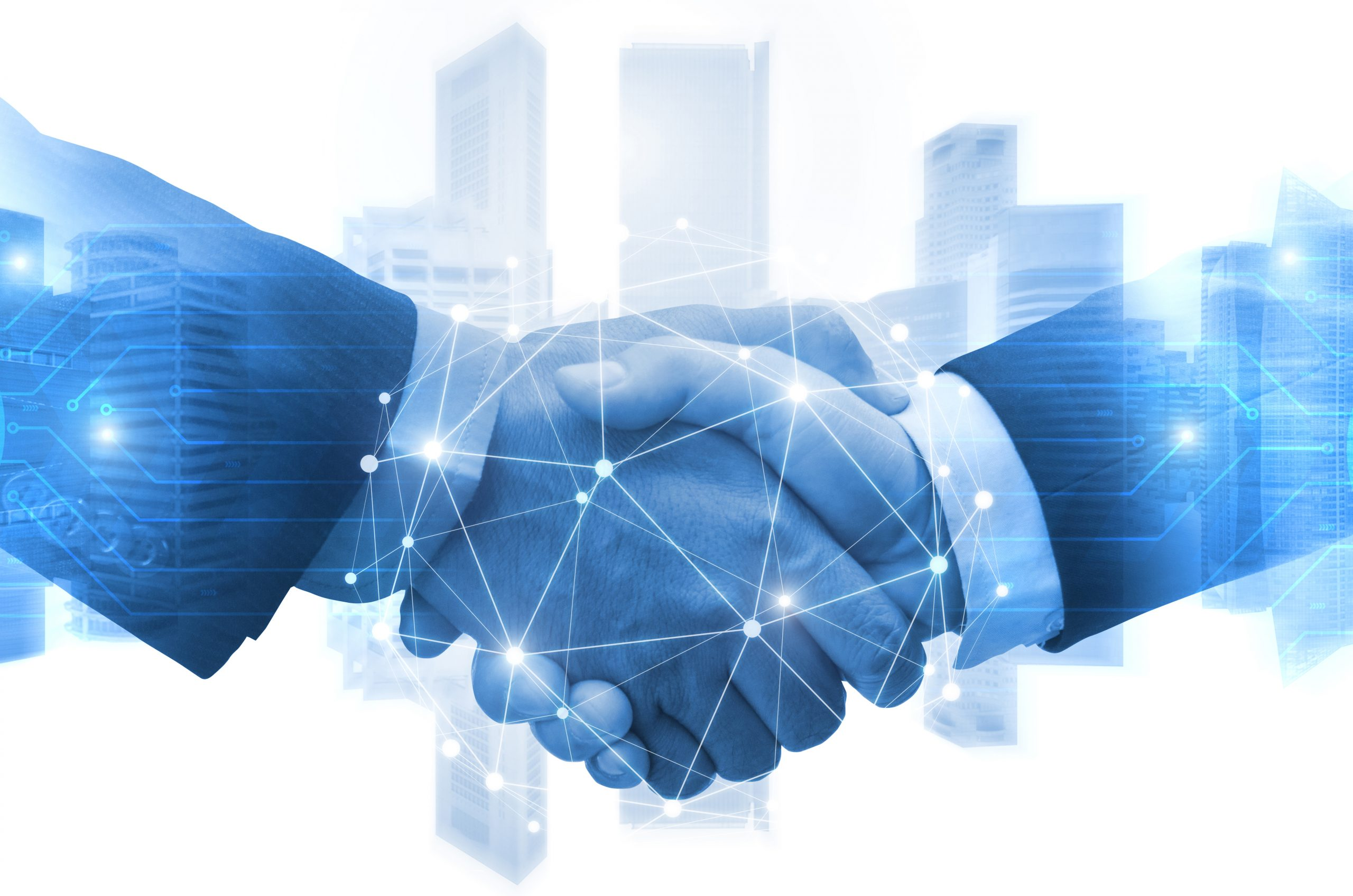 a digital handshake- partnership